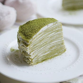 Japanese Matcha Green Tea Mille Crepe Cake A No Bake Dessert Indulge With Mimi