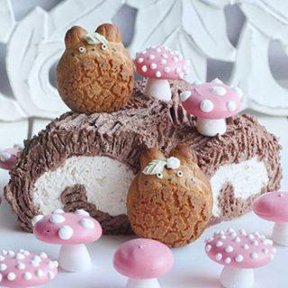 Japanese Christmas Cake.Echanted Forest Christmas Yule Log Cake Made With Japanese Cake Roll