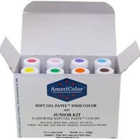Gel Food Coloring AmeriColor Junior Kit, 8 Colors.75 Ounce Bottles