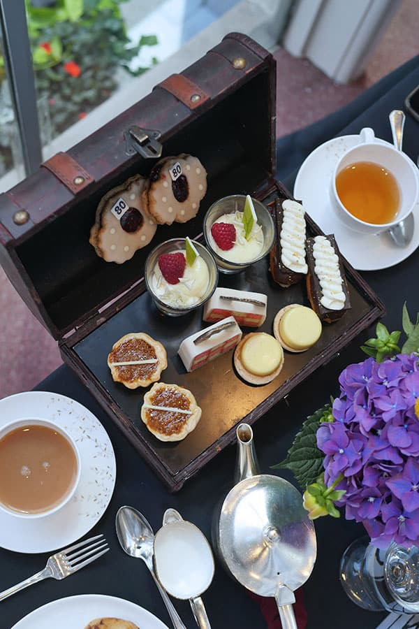 A jewel box full of afternoon tea desserts