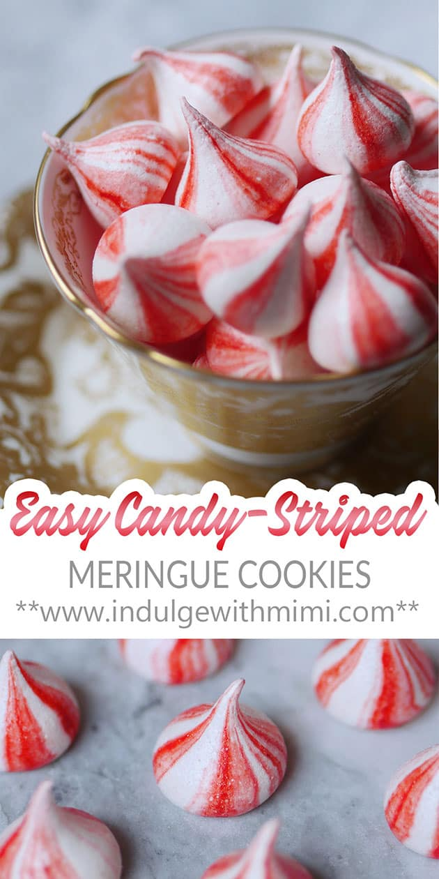 A bowl of striped meringue candy.