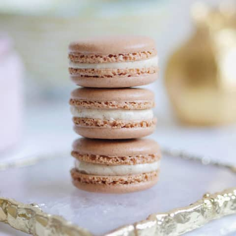 Gingerbread Spice Macarons