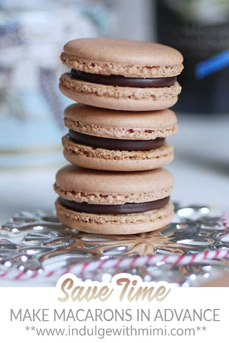 A stack of Baileys Irish cream macarons.