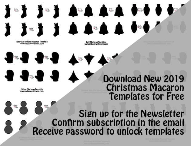 A variety of Christmas macaron templates.