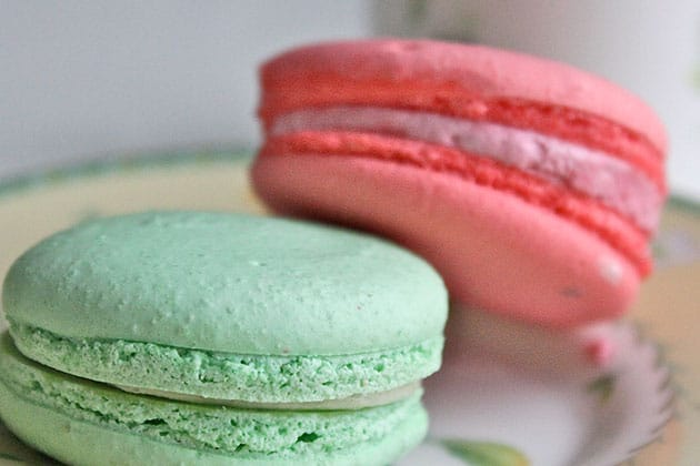 Macarons with lopsided feet.