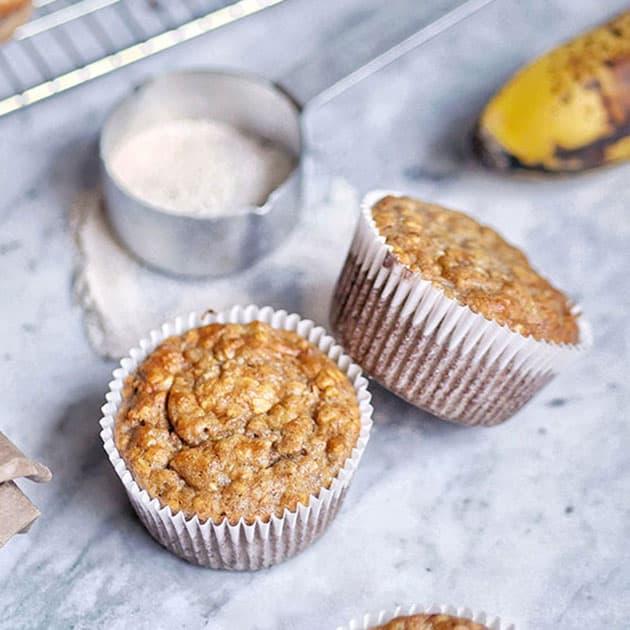 Sugar-Free Wholewheat Einkorn Banana Muffins