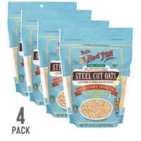 Bob's Red Mill Organic Steel Cut Oats, Resealable, 24 Ounce (Pack of 4)