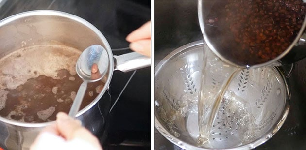 Testing one single Adzuki bean for red bean paste.