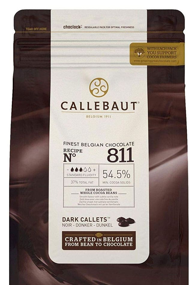 Belgian Dark Couverture Chocolate Semisweet Callets
