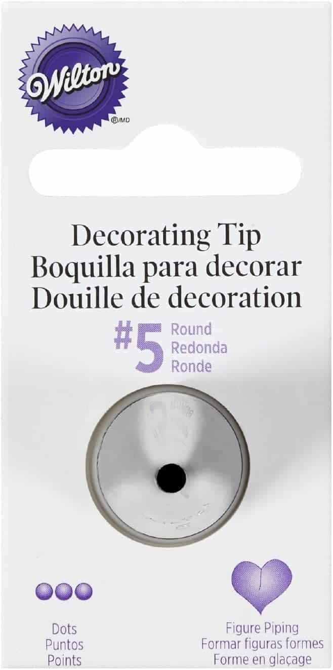 Wilton Decorating Tip, No.5 Round