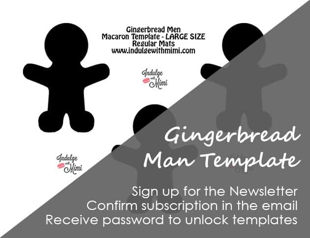 Gingerbread man macaron template.