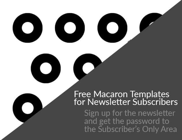 A round macaron template.
