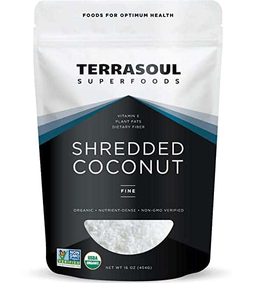 Terrasoul Superfoods Organic Coconut Flakes, 16 Oz - Finely Shredded