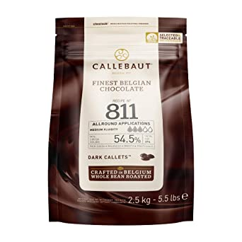 Callebaut Belgian Dark Couverture Chocolate Semisweet Callets, 54.5% - 5.5 Lbs