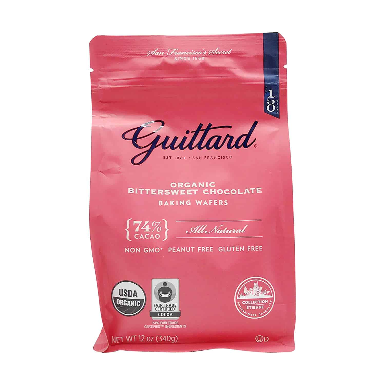 Guittard, Organic 74% Chocolate Baking Wafers, 12 Ounce